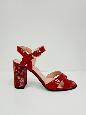 Sandale Dama Piele Naturala Rosii Moda Prosper Charle D02766 [0]