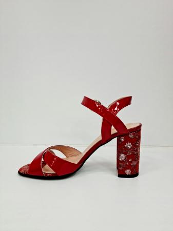 Sandale Dama Piele Naturala Rosii Moda Prosper Charle D02766 [1]