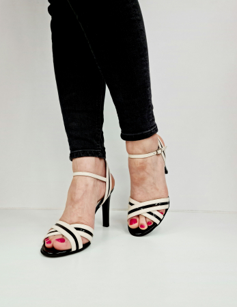 Sandale Dama Piele Naturala Albe Moda Prosper Christiane D02768 [2]