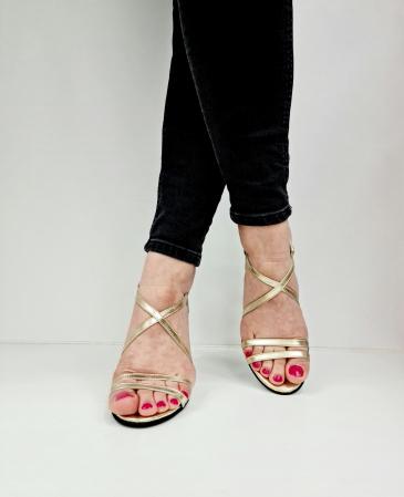 Sandale Dama Piele Naturala Aurii Moda Prosper Shakti D02771 [3]