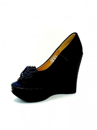 Pantofi Dama Piele Naturala Albastri Groza D027063