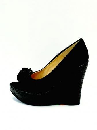 Pantofi Dama Piele Naturala Negri Luiza D027041