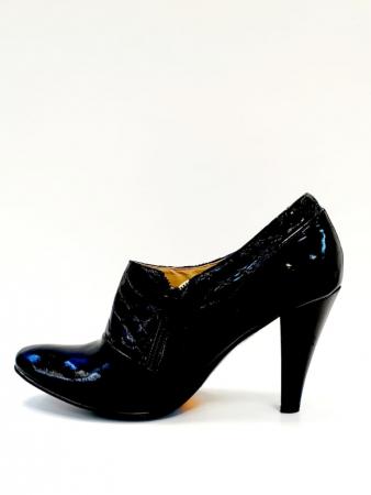 Pantofi cu toc Piele Naturala Negri Teddy D027111