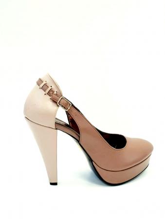 Pantofi cu toc Piele Naturala Roze Izzy D027073