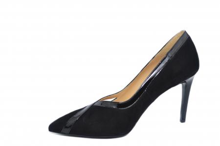 Pantofi cu toc Piele Naturala Negri Guban Siena D021272