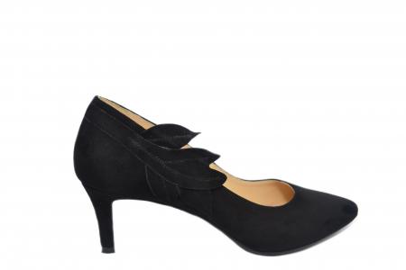 Pantofi cu toc Piele Naturala Negri Guban Oliana D021290