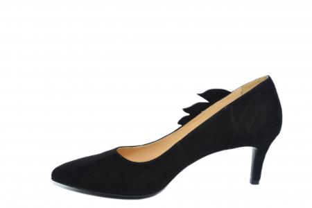 Pantofi cu toc Piele Naturala Negri Guban Oliana D021291