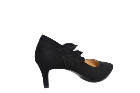 Pantofi cu toc Piele Naturala Negri Guban Oliana D021293