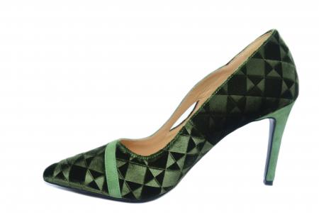 Pantofi cu toc Piele Naturala Verzi Guban Jeanine D021861