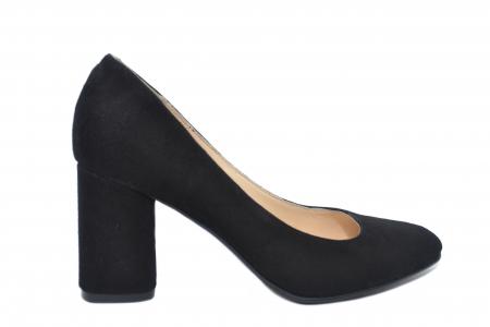 Pantofi cu toc Piele Naturala Negri Celia D021980