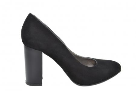 Pantofi cu toc Piele Naturala Negri Moda Prosper Prisca D02068 [0]