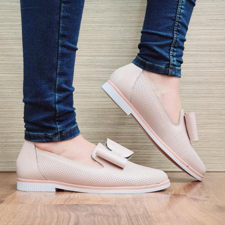 Pantofi Casual Piele Naturala Nude Marina D02294 [0]