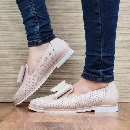 Pantofi Casual Piele Naturala Nude Marina D02294 [1]