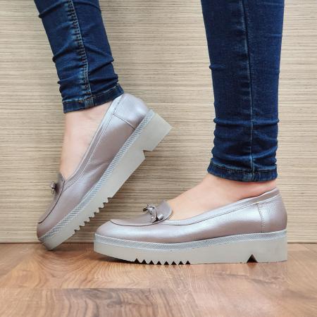 Pantofi Casual Piele Naturala Nude Louisa D022971