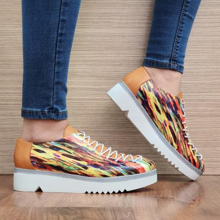 Pantofi Casual Piele Naturala Multicolor Dorothea D023040