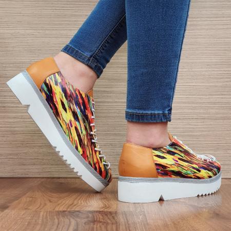Pantofi Casual Piele Naturala Multicolor Dorothea D023043