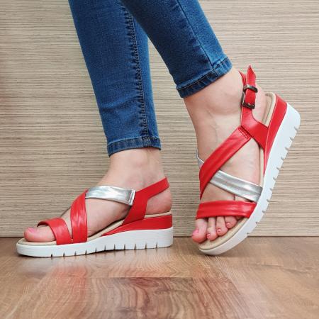 Sandale Piele Naturala Rosii Clarice [2]
