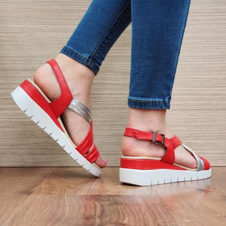 Sandale Piele Naturala Rosii Clarice [3]