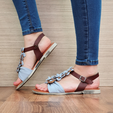 Sandale Piele Naturala Bleu Eliza D023081