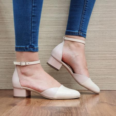 Pantofi Dama Piele Naturala Nude Renee D023140