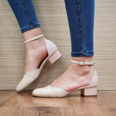 Pantofi Dama Piele Naturala Nude Renee D023141