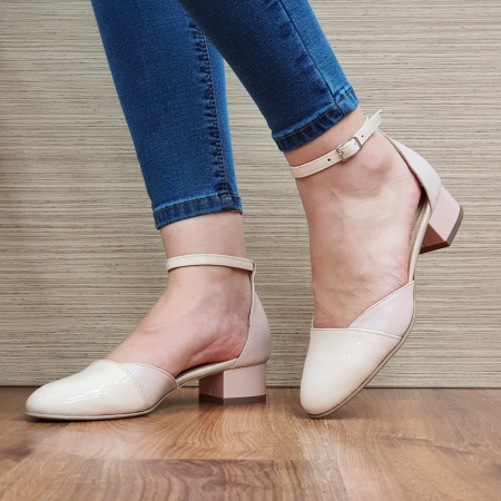 Pantofi Dama Piele Naturala Nude Renee D023142