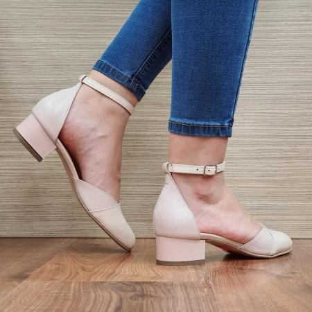Pantofi Dama Piele Naturala Nude Renee D023143