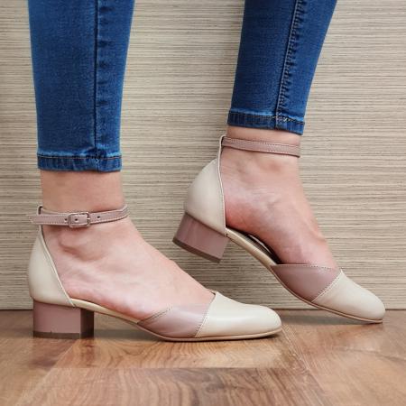 Pantofi Dama Piele Naturala Crem Renee D023150