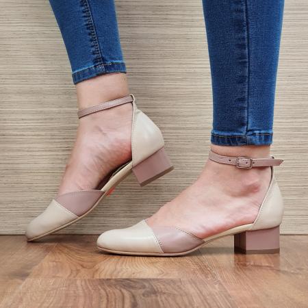 Pantofi Dama Piele Naturala Crem Renee D023151
