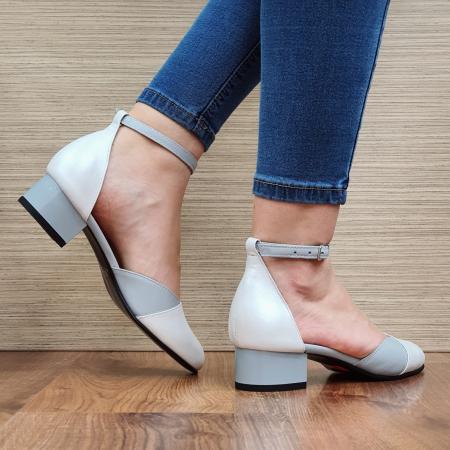 Pantofi Dama Piele Naturala Albi Renee D023163