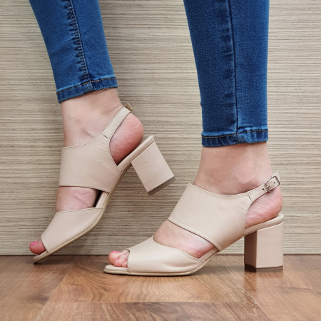 Sandale Piele Naturala Nude Sasha [1]