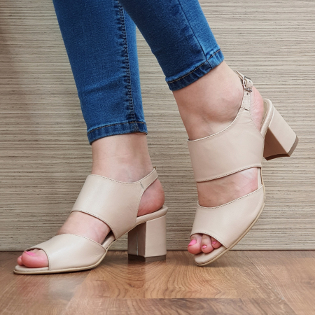 Sandale Piele Naturala Nude Sasha [2]