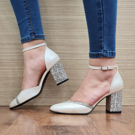 Pantofi Dama Piele Naturala Bej Barbara D023211