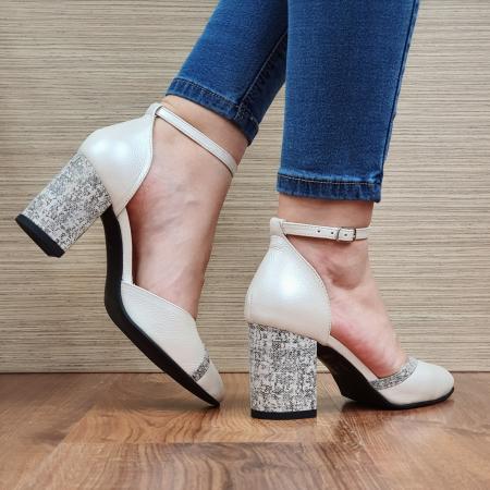Pantofi Dama Piele Naturala Bej Barbara D023213