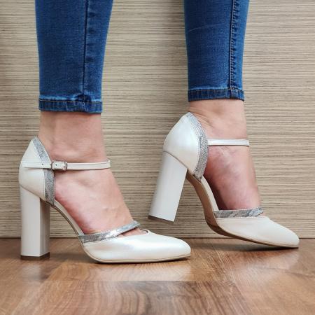 Pantofi Dama Piele Naturala Bej Cala D02323 [0]