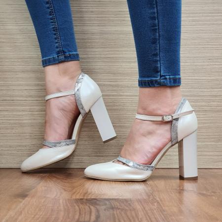 Pantofi Dama Piele Naturala Bej Cala D02323 [1]