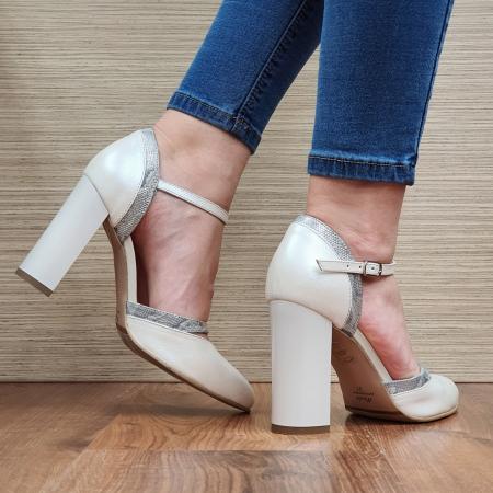 Pantofi Dama Piele Naturala Bej Cala D02323 [3]