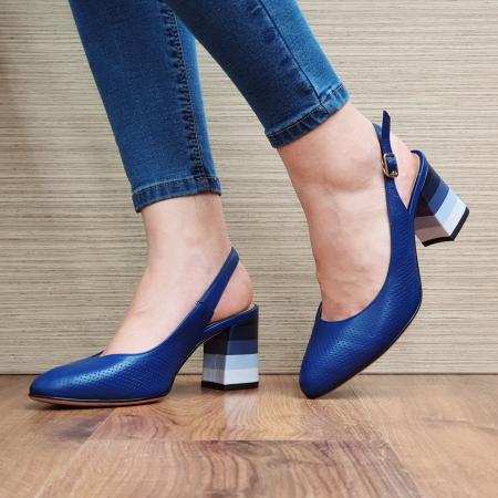 Pantofi Dama Piele Naturala Albastri Rada D02324 [0]