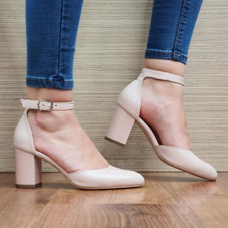Pantofi Dama Piele Naturala Nude Fiorella D02325 [0]