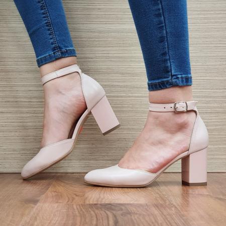 Pantofi Dama Piele Naturala Nude Fiorella D02325 [1]