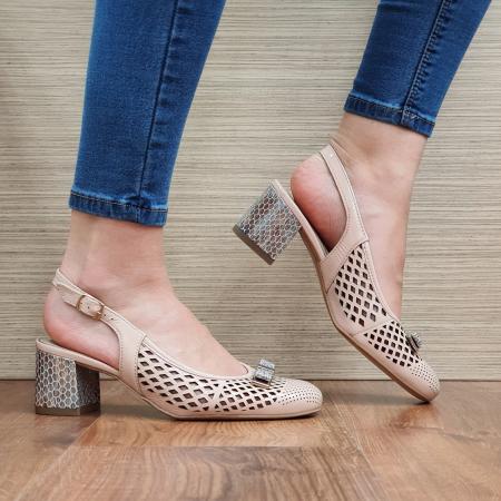 Pantofi Dama Piele Naturala Ara Nude Astrid D023280