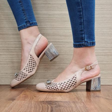 Pantofi Dama Piele Naturala Ara Nude Astrid D023281