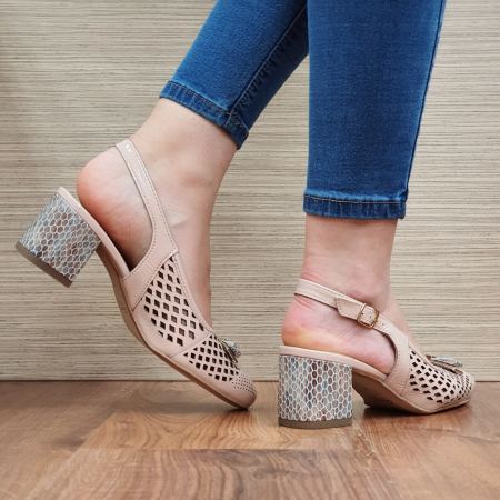 Pantofi Dama Piele Naturala Ara Nude Astrid D023283