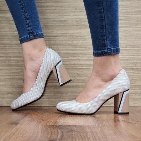 Pantofi cu toc Piele Naturala Epica Nude Lorelei D023292