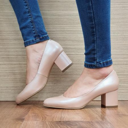 Pantofi cu toc Piele Naturala Nude Emma D02338 [1]