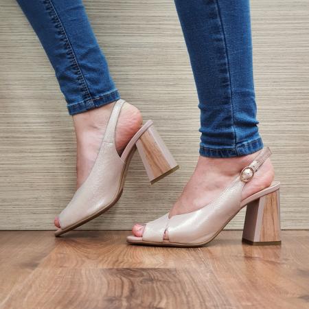 Sandale piele Naturala Epica Nude Suren1