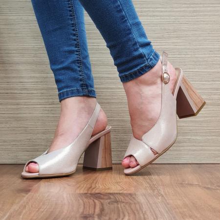 Sandale piele Naturala Epica Nude Suren2