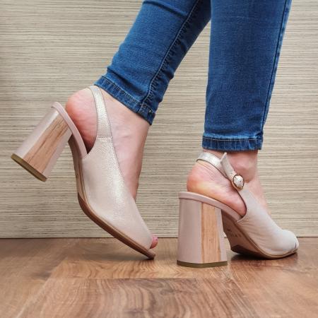 Sandale piele Naturala Epica Nude Suren3