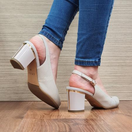 Sandale Piele Naturala Bej Laila3