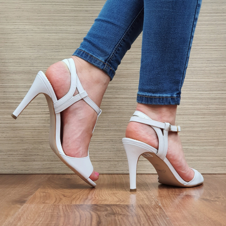 Sandale Piele Naturala Guban Albe Fifi3